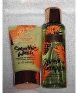 Set of 2 Victoria Secrets  Smoothie Wash and Body Mist Squeeze of Pineapple - $25.73