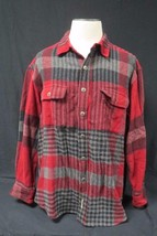 Timberlands Thick Men's Flannel Jacket Red,Black And Grey Size Large - $31.49