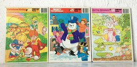 Vintage Whitman 1983 Rainbow Brite Frosty the Snowman - 3 Frame Tray Puzzles  - $25.60