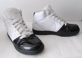 NIKE Air 335808 112 Sneaker Athletic Shoes Hi Top Patent White Men's Size 10 - $39.95