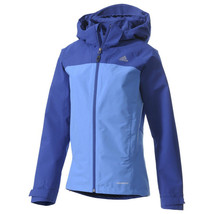 Adidas Women's Hiking OUTDOOR WALDLIGHT JACKET COAT SMALL S SM BLUE G89591 $130 - $70.08