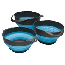 CWR-89894 S.O.L. Survive Outdoors Longer Flat Pack Bowls & Strainer Set - $27.44