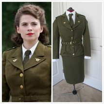 World War II Military Uniform Cosplay Costume 1940's Outfit Womens Milit... - $99.00