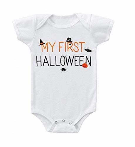 Primary image for Unisex Baby My First Halloween Baby Bodysuit Romper 6-12 Months White