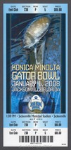 2008 GATOR BOWL TICKET TEXAS TECH RED RAIDERS VIRGINIA CAVALIERS FULL ST... - $12.55