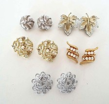 VINTAGE CLIP EARRINGS 5 Pair Napier Sarah Coventry Boucher 8213 Deco EST... - $24.99