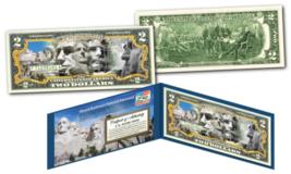 MOUNT RUSHMORE NATIONAL MEMORIAL MOUMENT Legal Tender U.S. $2 TWO-DOLLAR... - $19.75