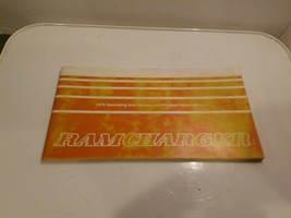 1979 Dodge Ramcharger Owners Manual Book Guide 81-370-9003 - $12.95