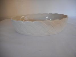Lenox  Ivory Basket Weave Lattice Oval Server Bowl Dish 8 inch x 5.5 inch - $19.79
