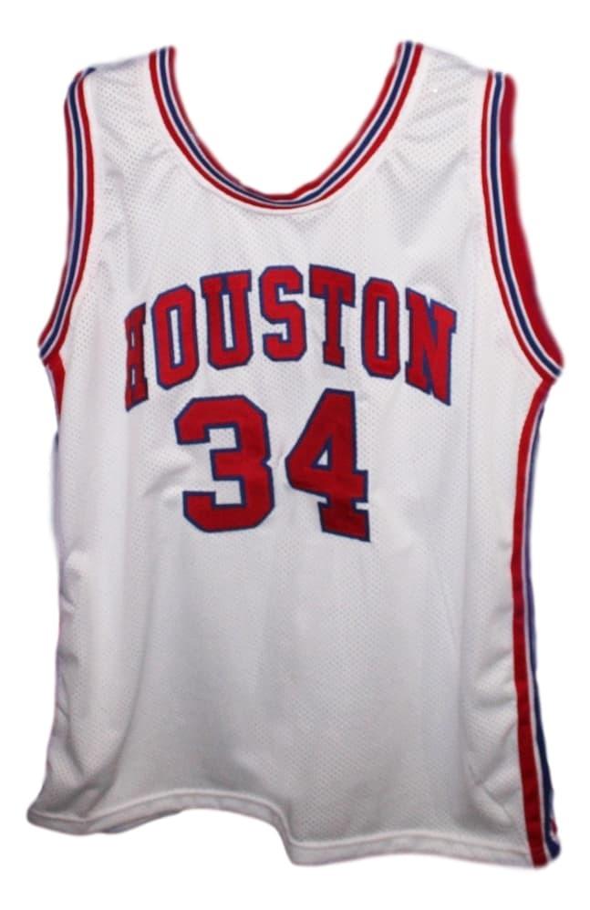 Akeem Olajuwon #34 Houston New Men Basketball Jersey White Any Size