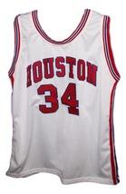Akeem Olajuwon #34 Houston New Men Basketball Jersey White Any Size image 1