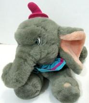 Vintage Walt Disney Dumbo Plush wearing Fuchsia Pink Hat 14 x 9 Plushie ... - $58.40