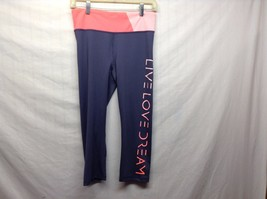 Grey Pink Live Love Dream Stretchy Work Out Pants Sz M - $29.70