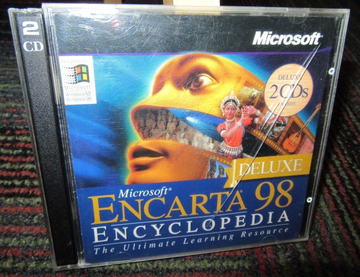 Microsoft encarta 98 deluxe encyclopedia and 50 similar items s l1600 m4hsunfo