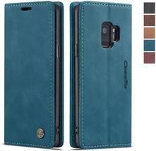 Samsung Galaxy S9 Case Samsung Wallet Case Cover Magnetic Blue NEW - $20.62