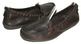 ✿ HUSH PUPPIES Flex Moyen Chocolate Pebbled Leather Mocs 9 M EXCELLENT! ... - £29.96 GBP