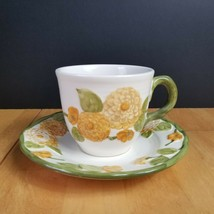 Metlox Poppytrail Vernon Sculptured Zinnia Coffee Cup & Saucer Set ONE (... - $5.93