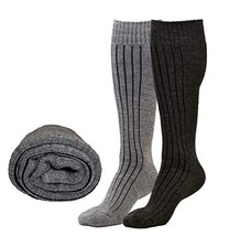 Luxury Thermal 80% True Merino Wool Socks-Over Calf, For Boots, Hiking,S... - $12.92