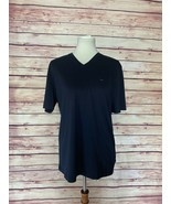 Michael Kors Navy Blue MK Logo V-Neck Short Sleeve T-Shirt, Size Small - $35.00