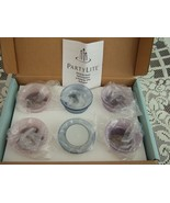 PARTYLITE P7299 SET OF 6 PASTELS VOTIVE TEALIGHT CANDLE HOLDERS NEW in Box - $17.06