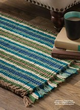 Z605 Crochet PATTERN ONLY Cushy Corrugated Throw Rug Pattern - $6.50