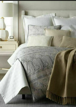 Ralph Lauren Mariella Elton Latte Linen Throw Blanket retail $330 - $135.82
