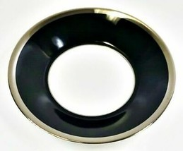 Haviland Limoges Laque De Chine Platino Borde - Noir Plano Taza Platillo,14.9cm - $22.79
