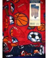 Faded Glory Boy's Fleece & Brushed Jersey Sleep Pants Size Large Red Blu... - $13.85