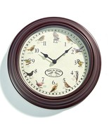 "11.5"" Singing Bird Wall Clock with 12 Beautiful Bird Songs with Light Se... - $39.59"
