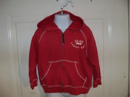 Lands' End Red Zip Up Hoodie Jacket Size 3T EUC - $16.80