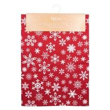 Navidad Copo de Nieve Algodón Rojo Mantel 132cm X 178cm (132cm X 178cm) - $47.64