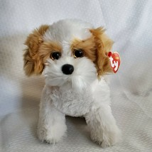 TY CLASSIC BEANIES BARLEY WHITE BROWN TAN PUPPY DOG PLUSH STUFFED ANIMAL... - $36.62