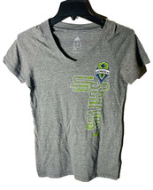 Adidas Seattle Sounders FC Sciarpe Up Donna Maglietta, Grigio T-Shirt - ... - $19.78