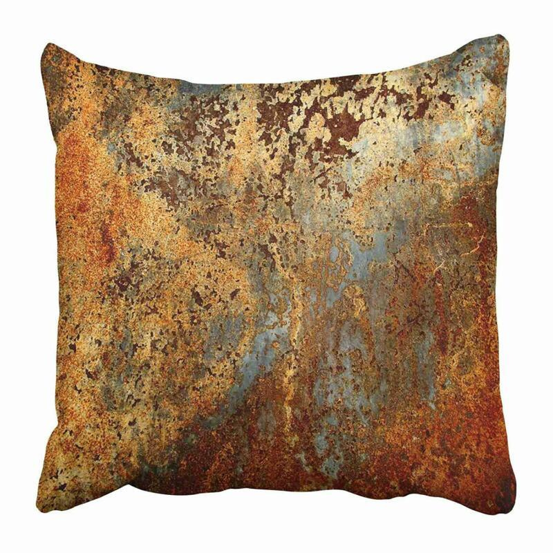 """THROW PILLOW COVERS CASES DECORATIVE 16X16"""" BROWN RUST COLORFUL RED 16X16 INCHES"""