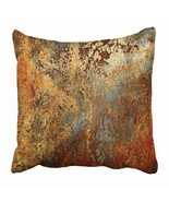 "THROW PILLOW COVERS CASES DECORATIVE 16X16"" BROWN RUST COLORFUL RED 16X1... - £11.60 GBP"