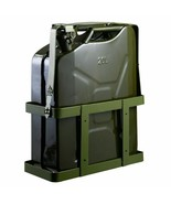 5 Gallon 20L Gas Can Steel Tank with Holder Emergency Backup - $85.93
