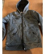 Boys QUAD Seven Gray Jacket With Hoodie, Size Small (6-7) - $17.45