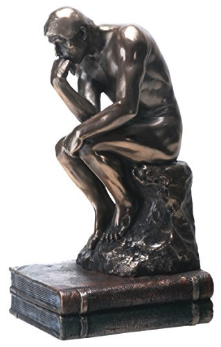 Primary image for YTC 7.75 Inch The Thinker Nude Male Statue Figurine, Bronze Colored