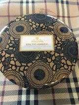 Voluspa Baltic Amber 3 Wick Large Candle - 12 OZ - Amber Resin, Sandlewood, Van! - $28.15