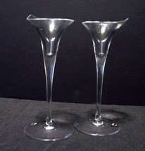 "Pair of Rosenthal Crystal ""Calla"" 10"" Tall Candlesticks - $40.99"