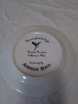 "Hummingbird In Flight by Ashton Hill Genuine Gold leaf Porcelain 7"" Plate image 2"