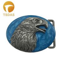 Luxury Eagle Belt Buckle Oval Silver Blue Metal for 1.57in Wide Belt Men... - $8.40