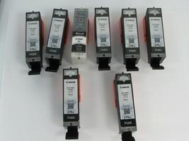 8 Empty Printer ink cartridges  Canon PIXMA 270 Black 27748 - $29.69