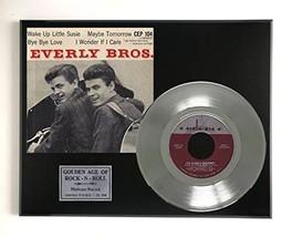 "Everly Brothers - Wake Up Little Susie Ltd Edition Platinum 45 Display ""M4"" - $85.45"