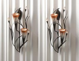 2 DAWN LILIES Candle Wall Sconces - $36.99
