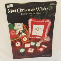 Mini Christmas Wishes Cross Stitch Pattern Booklet 27 1981 12 Designs Jo... - $14.99