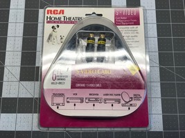 RCA Home Theater 6 foot S-Video Cable 24K Gold Connectors T06S - $24.95