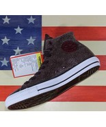 CONVERSE UNRELEASED SAMPLE Chuck Taylor ALL-STAR HI Cracked Sangria vtg ... - $88.88