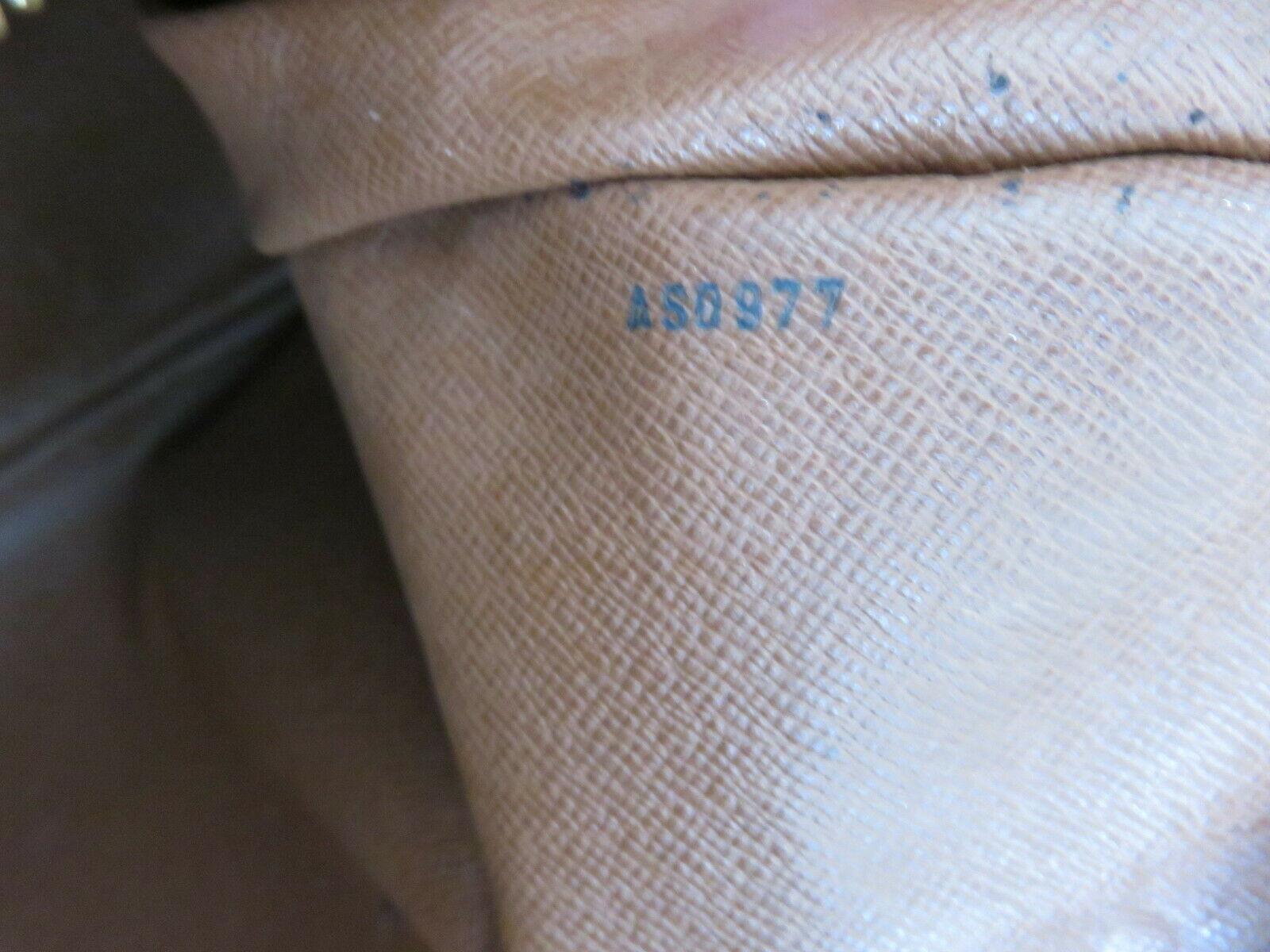 Authentic LOUIS VUITTON Monogram Canvas Leather Boulogne 35 Shoulder Bag image 11
