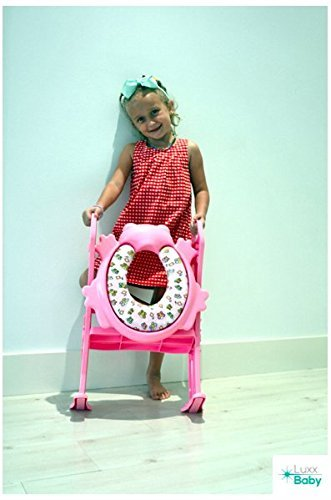 6 COLORS to CHOOSE. Mr Frog - Potty training seat with ladder, toilet HELPER for image 4